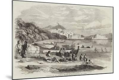 Lazzaroni on the Shore of the Bay of Naples-Samuel Read-Mounted Giclee Print