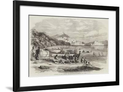 Lazzaroni on the Shore of the Bay of Naples-Samuel Read-Framed Giclee Print