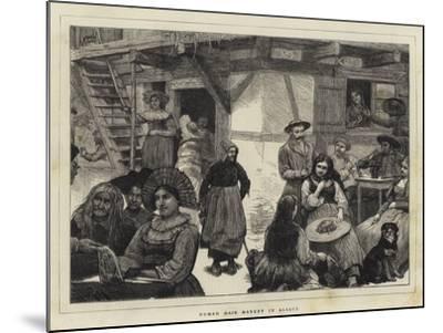 Human Hair Market in Alsace-Robert Walker Macbeth-Mounted Giclee Print