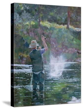 Fly Fishing-Rosemary Lowndes-Stretched Canvas Print