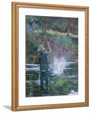 Fly Fishing-Rosemary Lowndes-Framed Giclee Print