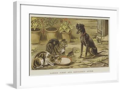 Ladies First and Gentlemen After-S^t^ Dadd-Framed Giclee Print