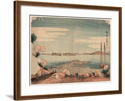 Dokanyama Shinagawa Oki Ukie-Shotei Hokuju-Framed Giclee Print
