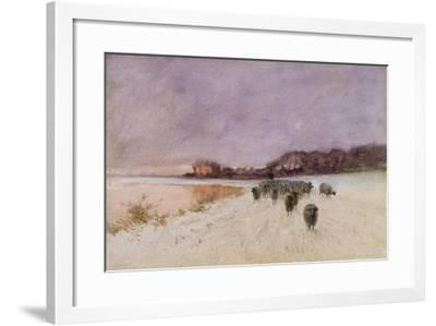 Winter at Loch Ard-Sir Alfred East-Framed Giclee Print