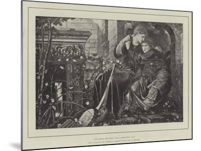 Love Among the Ruins-Edward Burne-Jones-Mounted Giclee Print