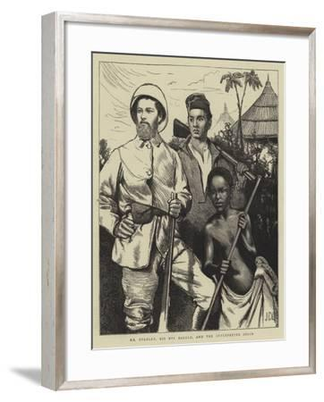Mr Stanley, His Boy Kalulu, and the Interpreter Selim-Sir James Dromgole Linton-Framed Giclee Print