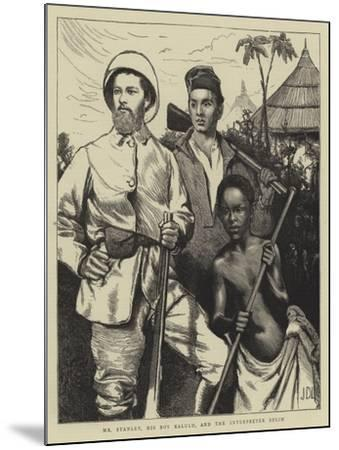 Mr Stanley, His Boy Kalulu, and the Interpreter Selim-Sir James Dromgole Linton-Mounted Giclee Print