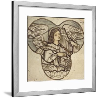Design for Stained Glass in Lyndhurst Church: an Angel Organist, 1886-Edward Burne-Jones-Framed Giclee Print