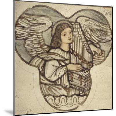 Design for Stained Glass in Lyndhurst Church: an Angel Organist, 1886-Edward Burne-Jones-Mounted Giclee Print