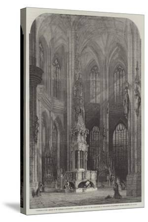 Interior of the Church of St Lawrence, Nuremberg-Samuel Read-Stretched Canvas Print