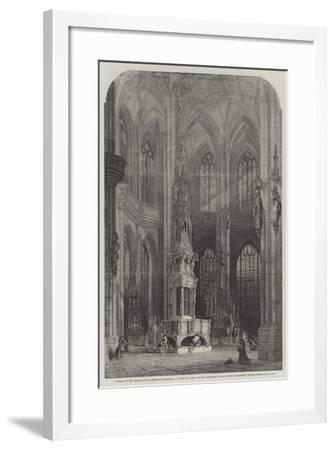 Interior of the Church of St Lawrence, Nuremberg-Samuel Read-Framed Giclee Print