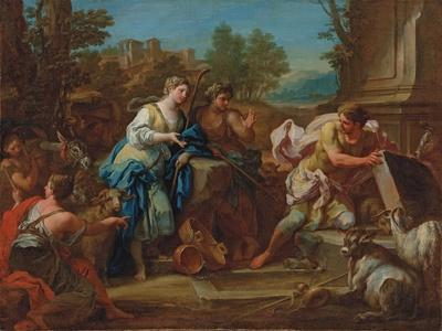 Jacob and Rachel at the Well-Sebastiano Conca-Framed Giclee Print