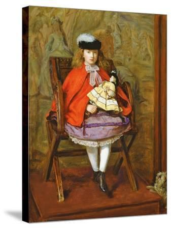 Lilly Noble, 1863-64-John Everett Millais-Stretched Canvas Print
