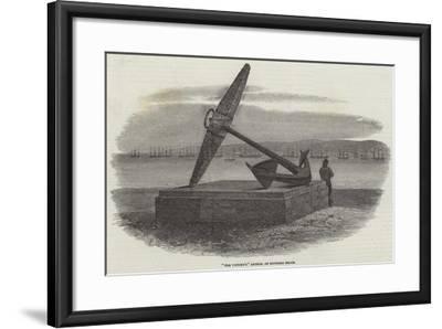 The Victory'S Anchor, on Southsea Beach-Samuel Read-Framed Giclee Print
