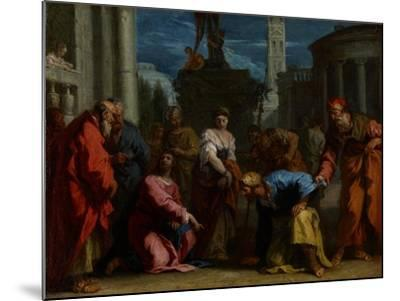 Christ and the Woman Taken in Adultery, C.1710-Sebastiano Ricci-Mounted Giclee Print