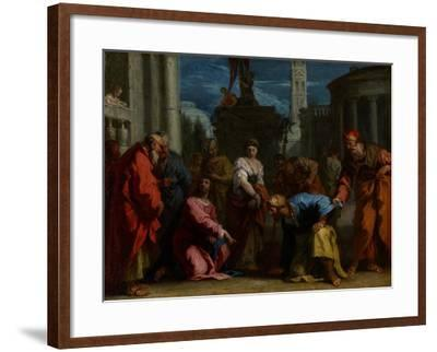 Christ and the Woman Taken in Adultery, C.1710-Sebastiano Ricci-Framed Giclee Print