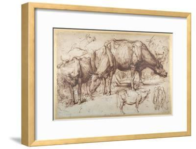 Cattle in Pasture, C.1618-20-Sir Anthony Van Dyck-Framed Giclee Print