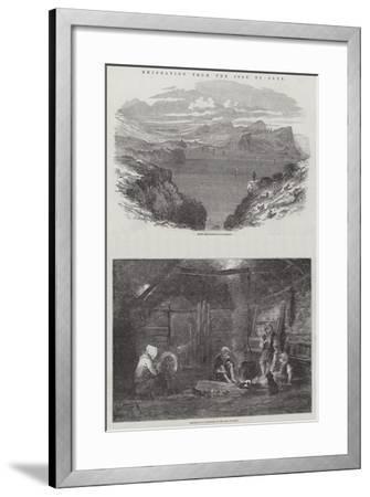 Emigration from the Isle of Skye-Samuel Read-Framed Giclee Print