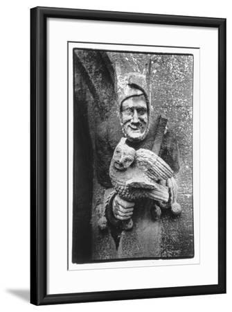 Carving of a Jester Holding an Owl, Toddington Manor, Gloucestershire-Simon Marsden-Framed Giclee Print