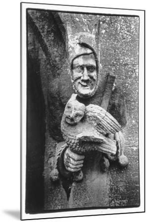 Carving of a Jester Holding an Owl, Toddington Manor, Gloucestershire-Simon Marsden-Mounted Giclee Print