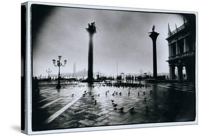The Columns of St. Mark and St. Theodore, Piazzeta San Marco, Venice-Simon Marsden-Stretched Canvas Print