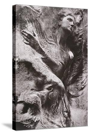 Tomb Carving, Pere Lachaise Cemetery, Paris, France-Simon Marsden-Stretched Canvas Print
