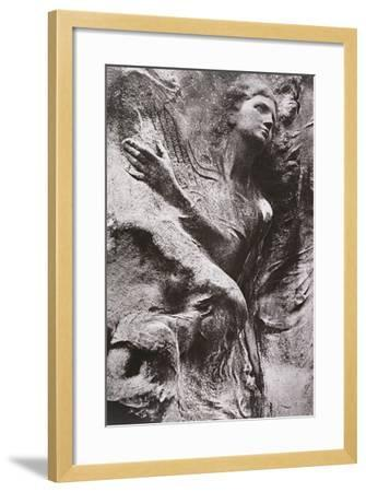 Tomb Carving, Pere Lachaise Cemetery, Paris, France-Simon Marsden-Framed Giclee Print