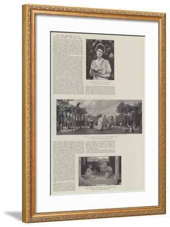 The New President of the Royal Academy and His Work-Sir Edward John Poynter-Framed Giclee Print