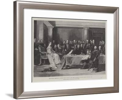 The Queen Presiding at Her First Council Upon Her Accession to the Throne, 20 June 1887-Sir David Wilkie-Framed Giclee Print