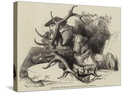 Deer-Stalking in the Highlands, Watching the Body-Edwin Landseer-Stretched Canvas Print