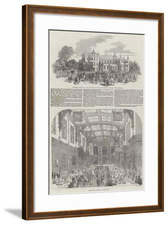 Festivities at Audley End-Samuel Read-Framed Giclee Print