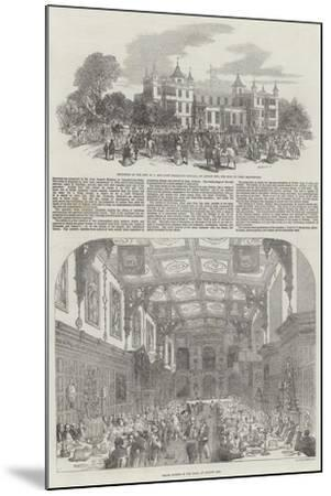 Festivities at Audley End-Samuel Read-Mounted Giclee Print