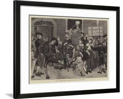 The Milkmaids' May-Day in the Olden Time-Sir James Dromgole Linton-Framed Giclee Print