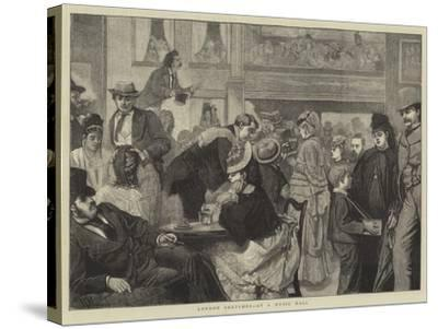 London Sketches, at a Music Hall-Sir James Dromgole Linton-Stretched Canvas Print