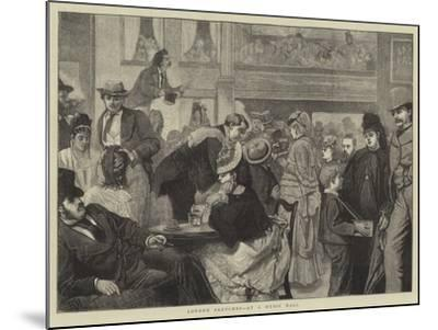 London Sketches, at a Music Hall-Sir James Dromgole Linton-Mounted Giclee Print