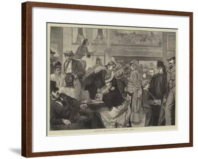 London Sketches, at a Music Hall-Sir James Dromgole Linton-Framed Giclee Print