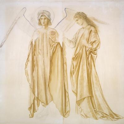Love Bringing Alcestis Back from the Grave-Edward Burne-Jones-Framed Giclee Print