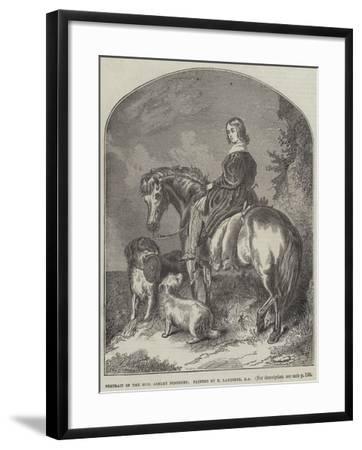 Portrait of Honourable Ashley Ponsonby-Edwin Landseer-Framed Giclee Print