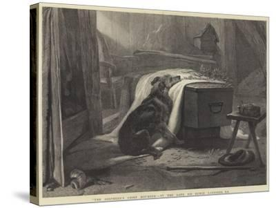 The Shepherd's Chief Mourner-Edwin Landseer-Stretched Canvas Print