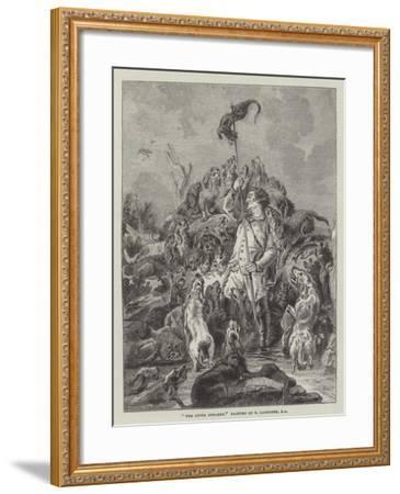 The Otter Speared-Edwin Landseer-Framed Giclee Print