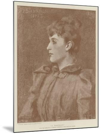 A Portrait-James Jebusa Shannon-Mounted Giclee Print