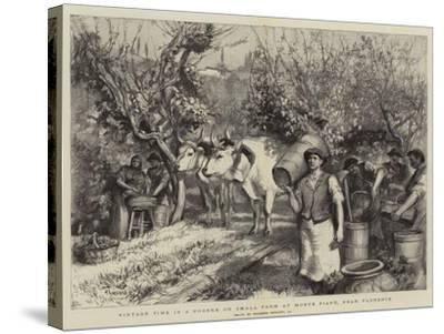 Vintage Time in a Podere or Small Farm at Monte Fiano, Near Florence-Hubert von Herkomer-Stretched Canvas Print