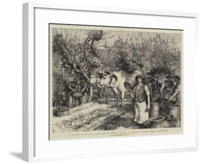 Vintage Time in a Podere or Small Farm at Monte Fiano, Near Florence-Hubert von Herkomer-Framed Giclee Print