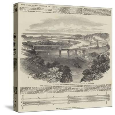 South Wales Railway, Opening of the Chepstow Bridge-Samuel Read-Stretched Canvas Print