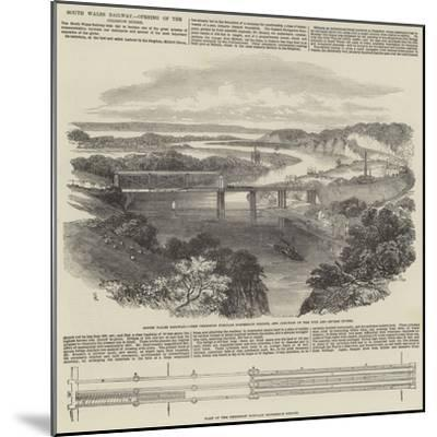 South Wales Railway, Opening of the Chepstow Bridge-Samuel Read-Mounted Giclee Print
