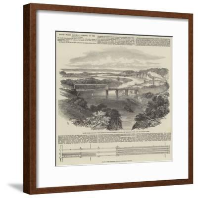 South Wales Railway, Opening of the Chepstow Bridge-Samuel Read-Framed Giclee Print