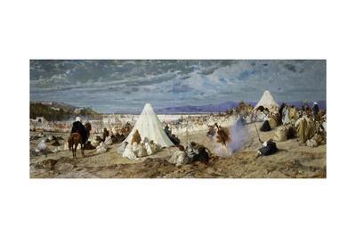 Celebration of Mohammed in Tangier-Stefano Ussi-Framed Giclee Print