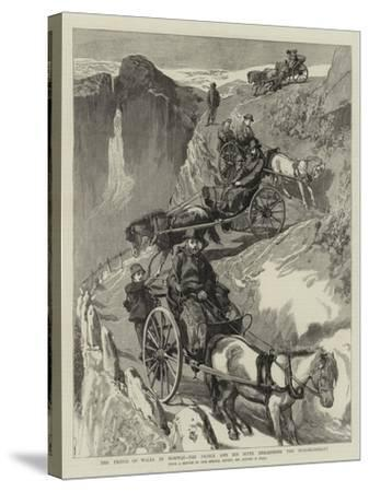 The Prince of Wales in Norway, the Prince and His Suite Descending the Stalheimsklev-Sydney Prior Hall-Stretched Canvas Print