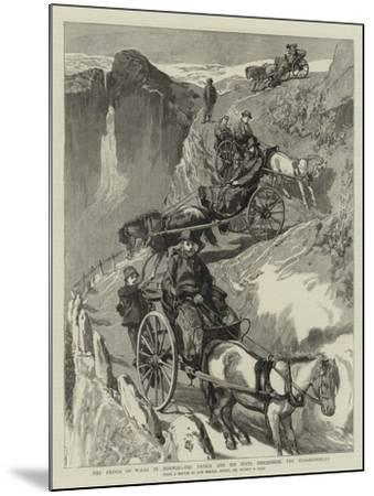 The Prince of Wales in Norway, the Prince and His Suite Descending the Stalheimsklev-Sydney Prior Hall-Mounted Giclee Print