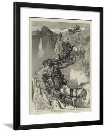 The Prince of Wales in Norway, the Prince and His Suite Descending the Stalheimsklev-Sydney Prior Hall-Framed Giclee Print
